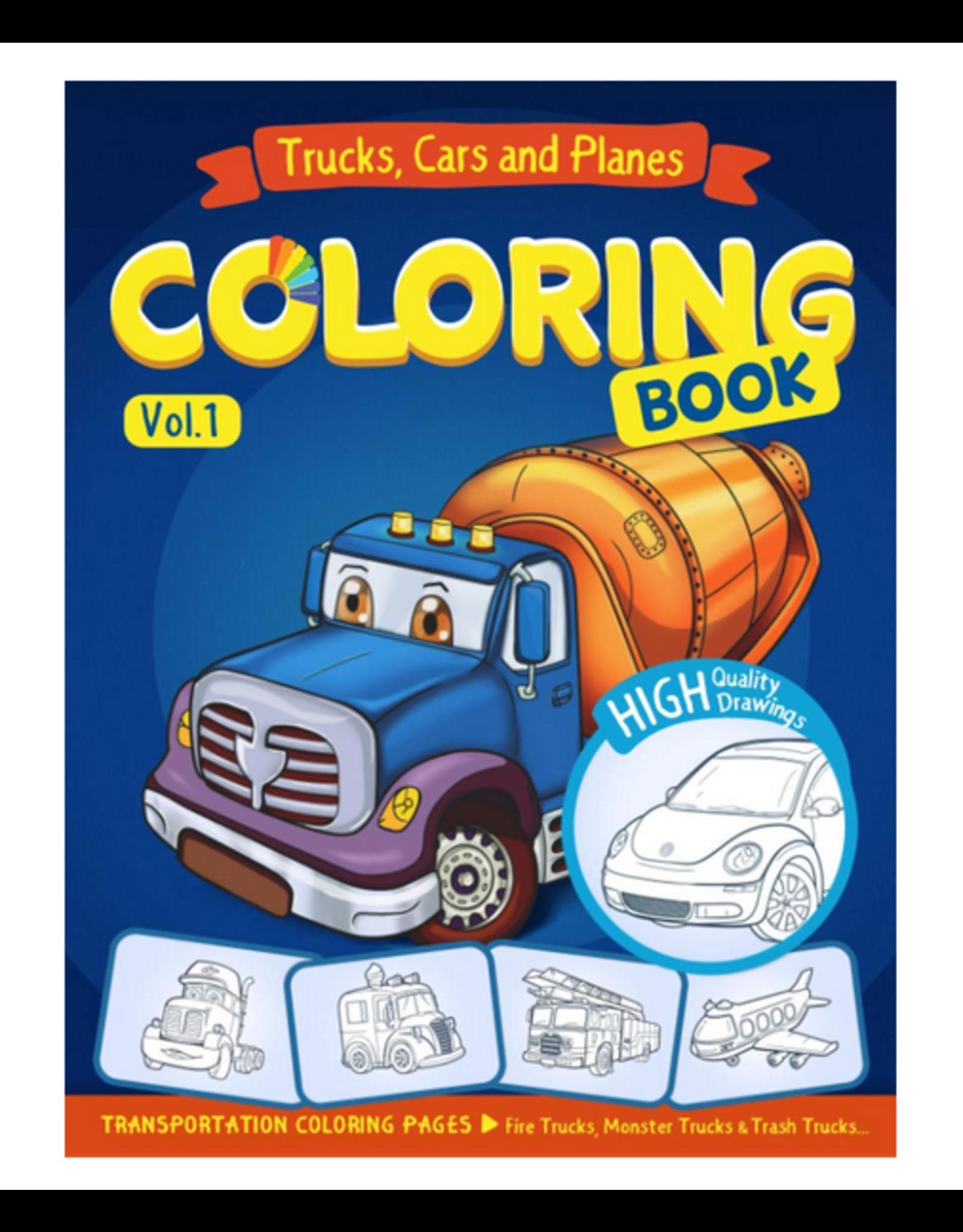 Ann Rainbow Colouring Book for Kids, Trucks, Cars & Planes Vol. 1