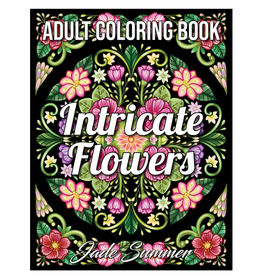 Jade Summer Colouring Book for Adults, Intricate Flowers
