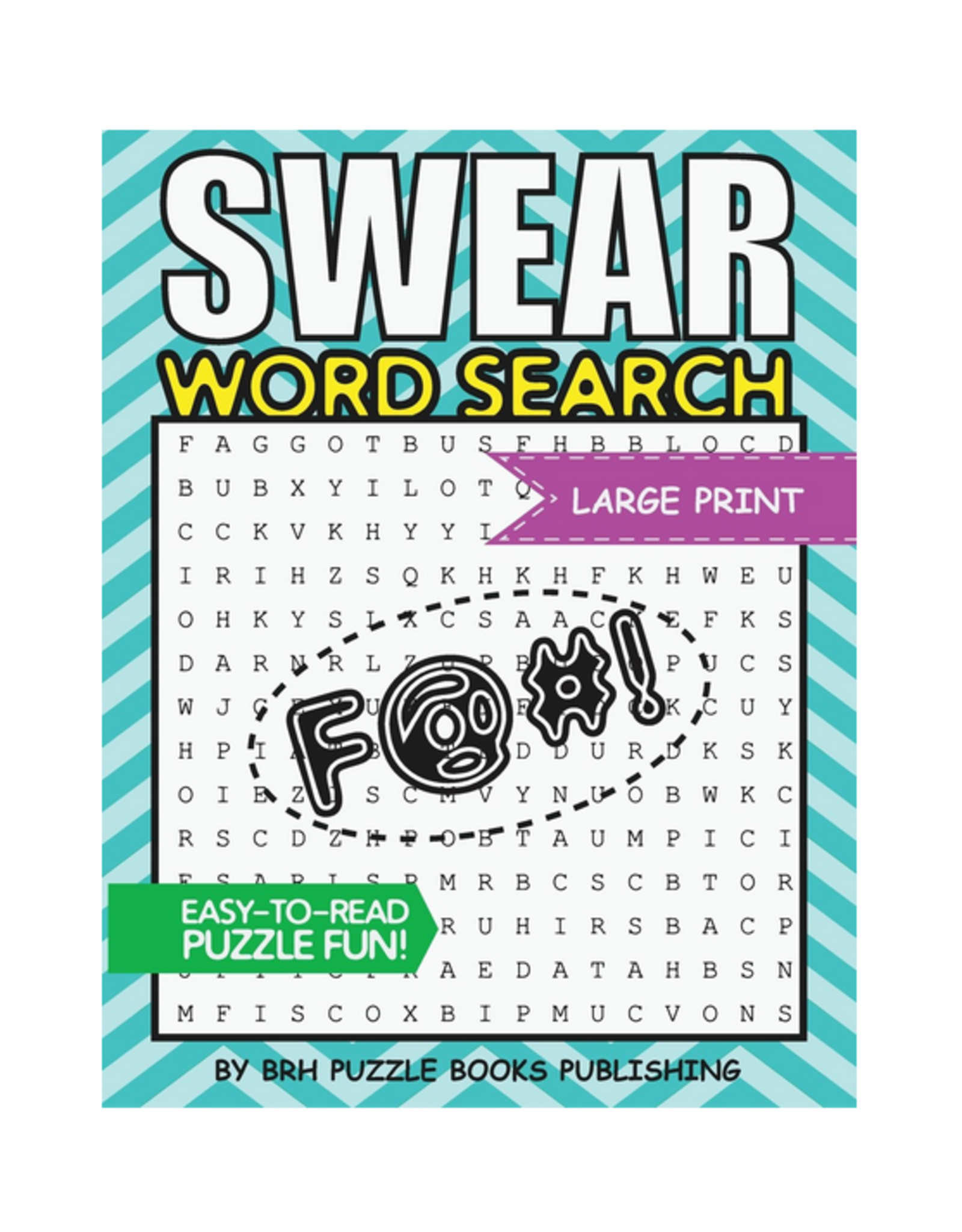 Brh Puzzle Books Activity Book, Swear Word Search for Adults, Large Print
