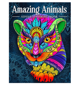 Coloring Book Kim Colouring Book for Adults, Amazing Animals Mandala