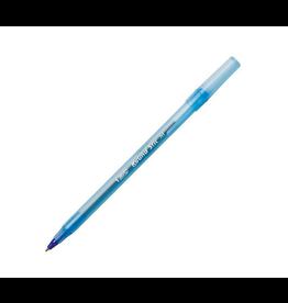 Bic Pen - BIC Round Stic Ballpoint, 1.0mm, Blue, 12 Pack