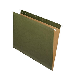 Staples Staples 100% Recycled Reinforced Standard Green Hanging File Folders - Letter Size - 25 Pack
