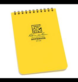 "Rite in the Rain Rite in the Rain Weatherproof 4"" x 6"" Top Spiral Notebooks, Yellow Cover"