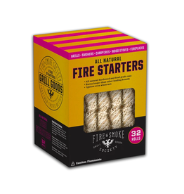 Fire & Smoke Society All Natural Fire Starters 32 Count