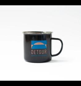 Detour Coffee Detour Coffee, Black Tin Mug