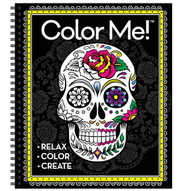 New Seasons Colouring Book for Adults, Color Me! Skull Cover Spiral Bound
