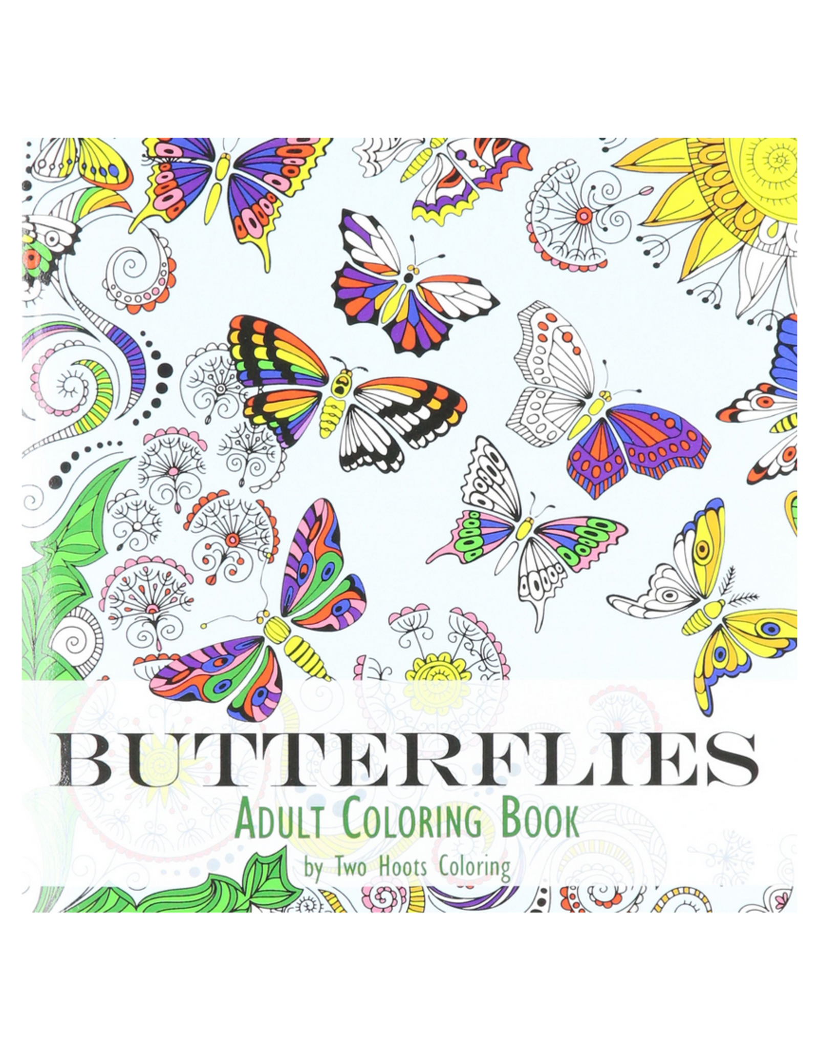 Two Hoots Coloring Colouring Book for Adults, Butterflies