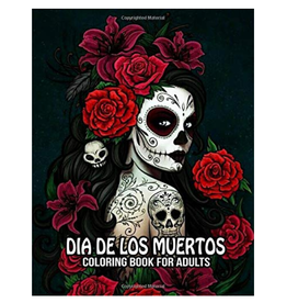 WolvesPeace Coloring Books Colouring Book for Adults, Dia de Los Muertos (Day of the Dead)