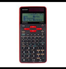Sharp Sharp ELW535XGRD Write View Scientific Calculator, Red