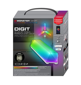 Monster Monster Digit Smart Mulicolour 3D LED Art Panels 3 Pack