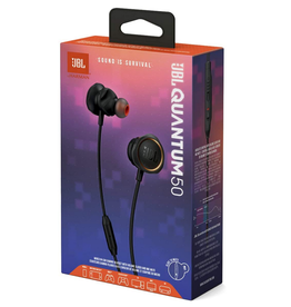 JBL JBL Quantum 50 Wired in-Ear Gaming Headset with Volume Slider and Mic Mute - Black