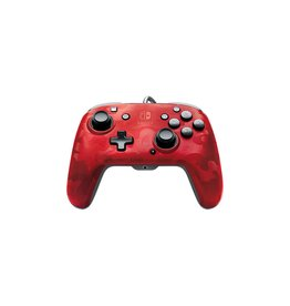 PDP PDP Faceoff Deluxe+ Audio Wired Controller for Nintendo Switch - Red Camo