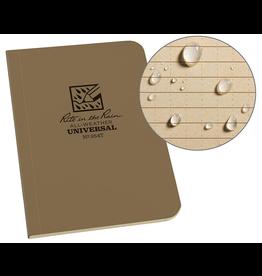 "Rite in the Rain Rite in the Rain Weatherproof Soft Cover Pocket Notebook, 3.5"" x 5"", Tan"