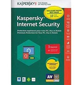 Kaspersky Kaspersky Internet Security 3-User 18 Month BIL PC/Mac/Android