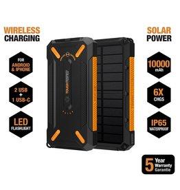 ToughTested Tough Tested 10000mAh PowerBank Solar 2 Port IP64 LED Light