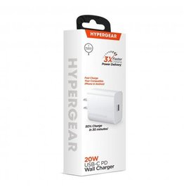 Hypergear Hypergear Wall Charger 1 Port USB-C 20W MagSafe Compatible White