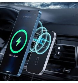 Choetech CHOETECH 15W Vent Mount Magsafe Wireless Car Charger - Black