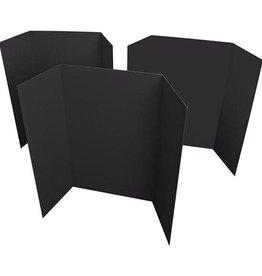 PROJECT DISPLAY BOARD-READI-BOARD TRI-FOLD, 36X48 BLACK