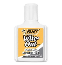 Bic CORRECTION FLUID-WITE-OUT FOAM QUICK DRY   -WOFQD12