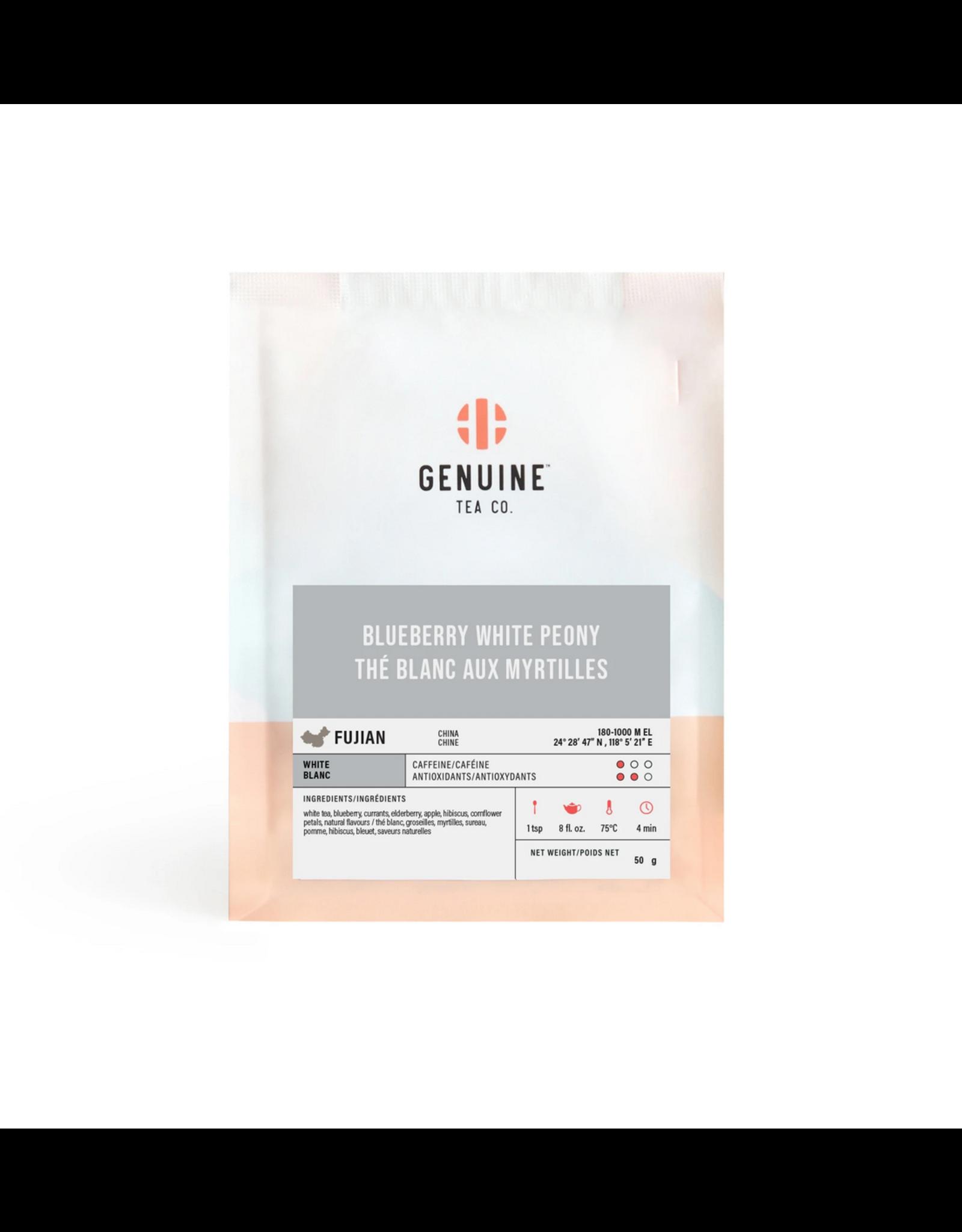 Genuine Tea Genuine Tea - Blueberry White Peony - 50g Loose