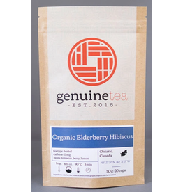 Genuine Tea Genuine Tea - Organic Elderberry Hibiscus - 50g Loose