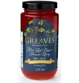 Greaves Jams & Marmalades Ltd. Greaves, Hot Red Pepper Jelly, 250ml