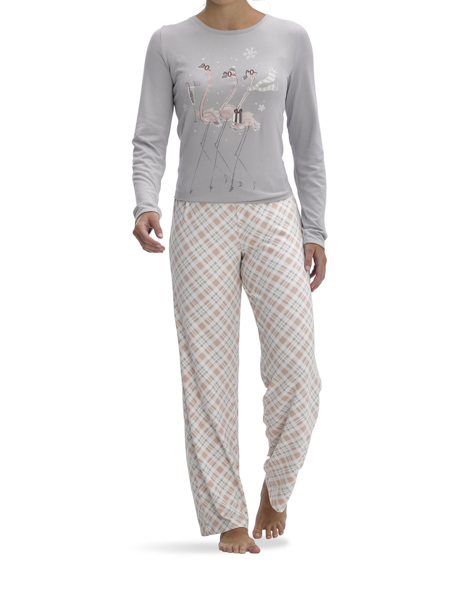 Hue HU Flamingo Plaid PJ