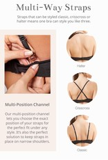 Montelle MO Wire Free Convertible T Shirt Bra