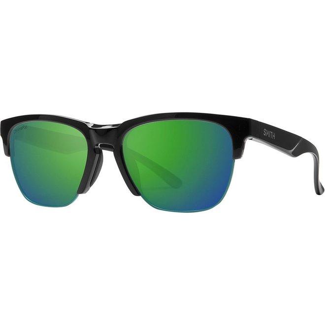 Haywire Sunglass: Matte Black ChromaPop Green Mirror Lens
