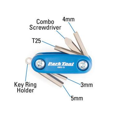 Park Tool Park Tool Folding Hex/Screwdriver Set (AWS-13)