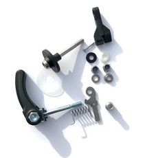 Brompton Brompton Rear-Frame Clip Retro Fit Kit with Seat Clamp Quick Release