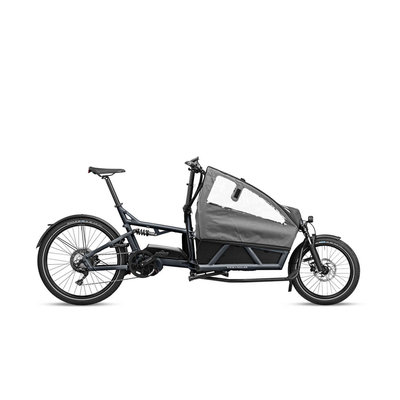 Riese & Muller Riese & Muller Load 60 Touring Coal Grey Matt Dual Battery 1000 Intuvia Display Low Sidewalls Two Child Seats with Footwell