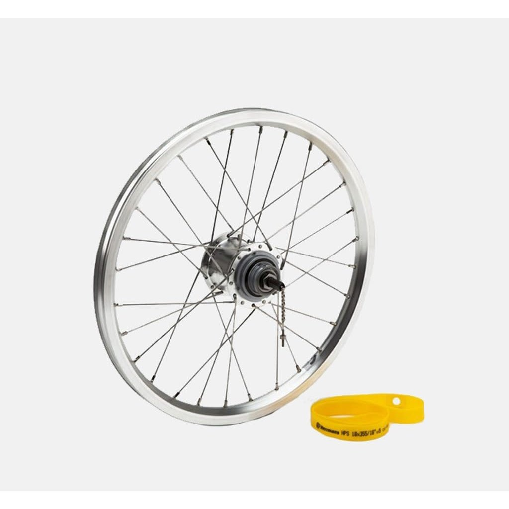 Brompton Brompton Rear Wheel incl. fittings for 6 speed (silver)