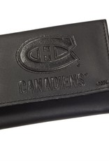 Team Sports America NHL Tri-Fold Leather Embossed Wallet Canadiens