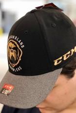 CCM ECHL CCM Centred Logo Hat Growlers Black/Grey