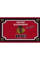 Team Sports Ameica NHL Embossed Doormat Blackhawks