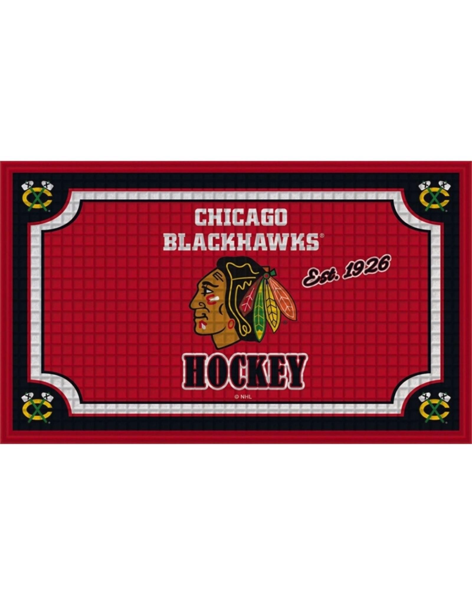 Team Sports America NHL Embossed Doormat Blackhawks
