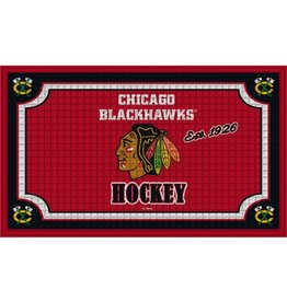 Team Sports America NHL Embossed Doormat Blackhawks
