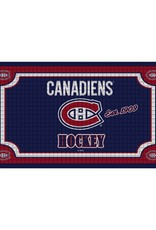 Team Sports America NHL Embossed Doormat Canadiens