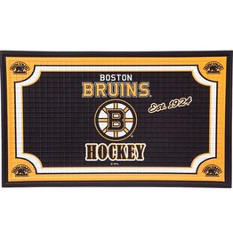 Team Sports America NHL Embossed Doormat Bruins