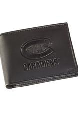 Team Sports America NHL Bi-Fold Leather Embossed Wallet Canadiens