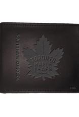 Team Sports America NHL Bi-Fold Leather Embossed Wallet Maple Leafs