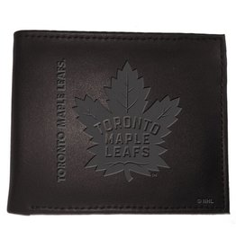 Team Sports America NHL Bi-Fold Leather Embossed Wallet Maple Leafs