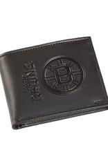 Team Sports America NHL Bi-Fold Leather Embossed Wallet Bruins