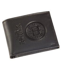 Team Sports America NHL Bi-Fold Leather Embossed Wallet Bruins