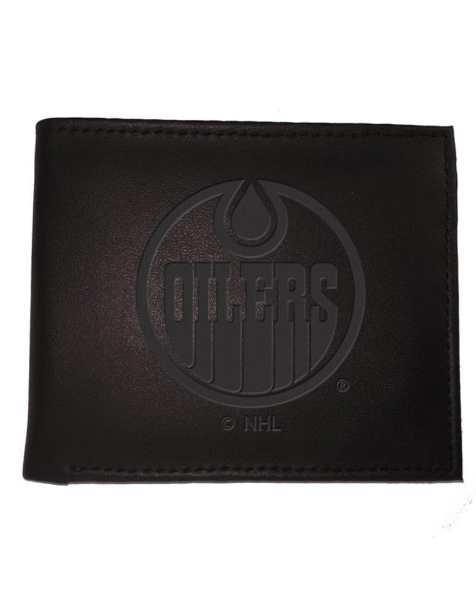 Team Sports America NHL Bi-Fold Leather Embossed Wallet Oilers