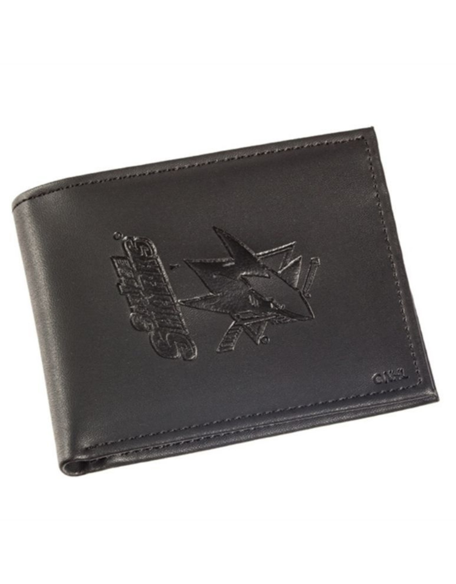 Team Sports Ameica NHL Bi-Fold Leather Embossed Wallet Sharks