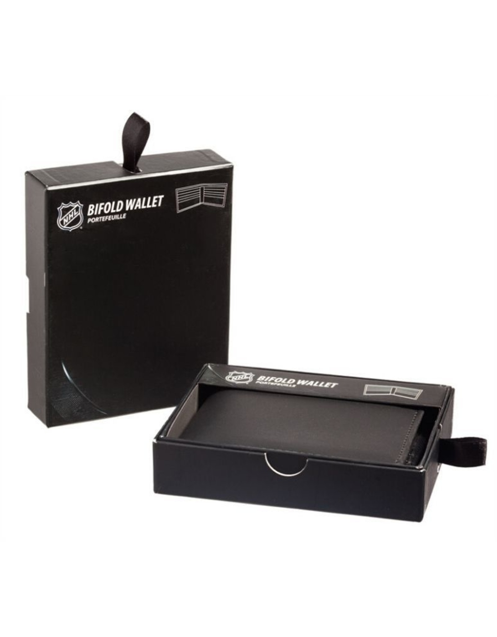 Team Sports America NHL Bi-Fold Leather Embossed Wallet Sharks