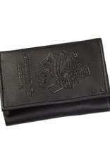 Team Sports America NHL Tri-Fold Leather Embossed Wallet Blackhawks