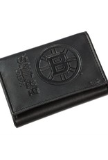 Team Sports Ameica NHL Tri-Fold Leather Embossed Wallet Bruins